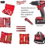 KIT TALADRO MILWAUKEE M18 BLPD 502X CON ACCESORIOS